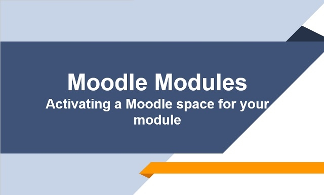 Moodle Modules 2017/18