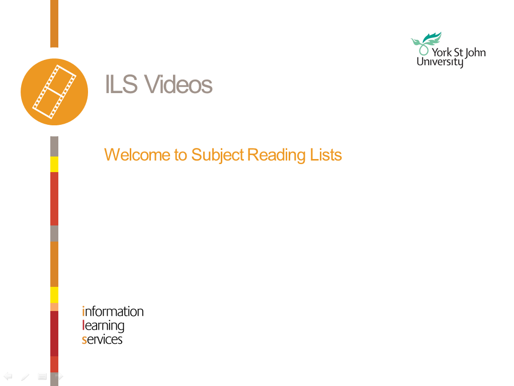Subject Reading Lists