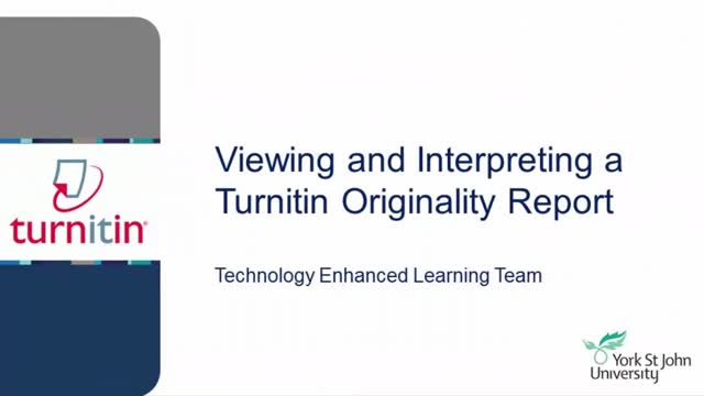 Turnitin Originality Reports