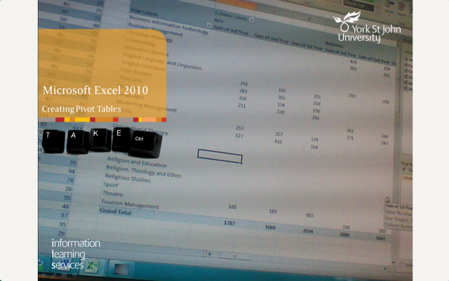 Creating Pivot Tables - Excel 2010