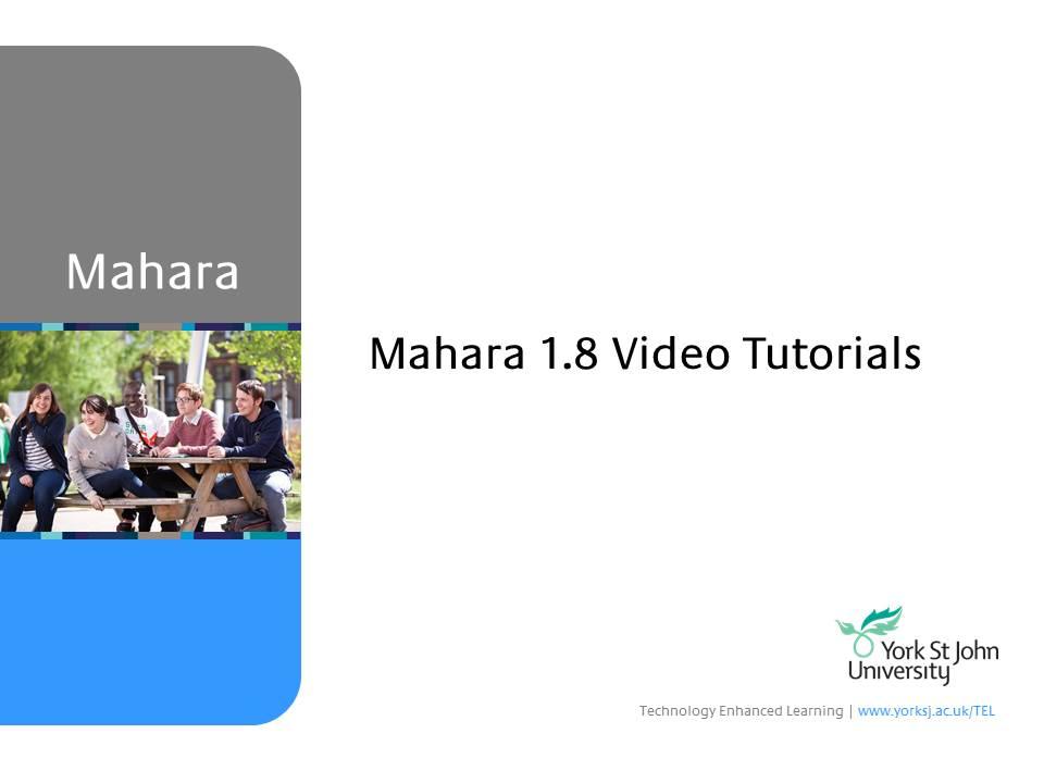 Mahara: 3.5. Curriculum Vitae
