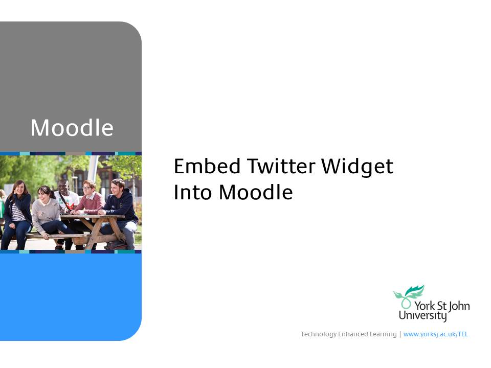 Embed Twitter Widget Into Moodle