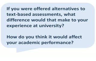 If you were offered alternatives, what difference would that make?