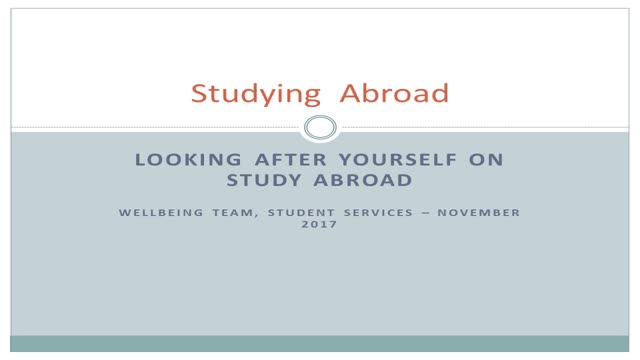 Study Abroad Wellbeing
