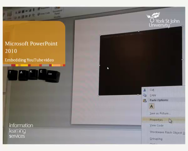 Embedding YouTube Video into PowerPoint 2010
